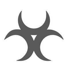 Biological threat glyph icon alert and symbol vector