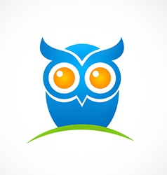 Bird owl hand drawn logo vector
