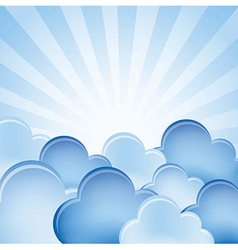 Blue clouds over background vector