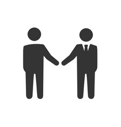 Business agreement icon vector