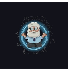 cartoon scientist character vector image