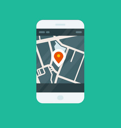 city navigation smartphone app - location on map vector image