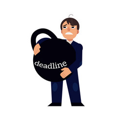 deadline pressure on businessman - male office vector image