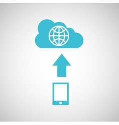 Device transfer cloud global world vector