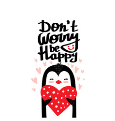do not worry be happy quote vector image