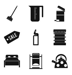 Domestic personnel icons set simple style vector