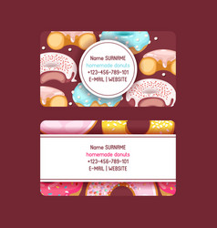 Donut doughnut business card food glazed vector