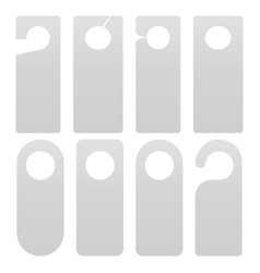 door hanger set isolated on white background vector image