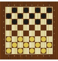 Draughts checker board vector image