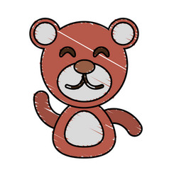 Draw bear animal comic vector