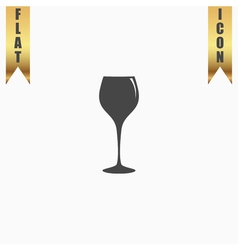 Elegant wine glass vector