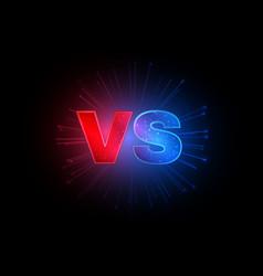 emblem vs versus red and blue letters vector image