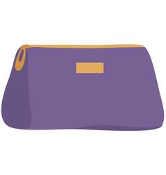 Empty cosmetic bag fashion vector