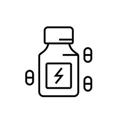 Energy booster supplement icon with pill symbol vector