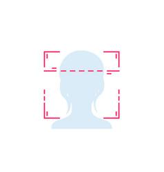 Face recognition facial scan vector