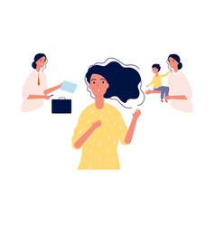 female choice girl choose between career vector image