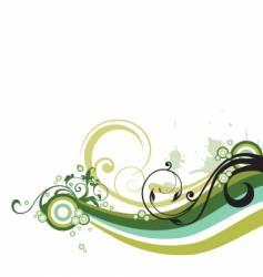 Floral graphic element vector