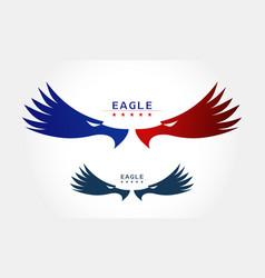 Graceful eagle silhouette logo vector