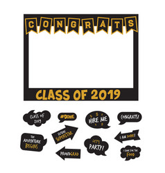 Graduation party design elements and photo vector