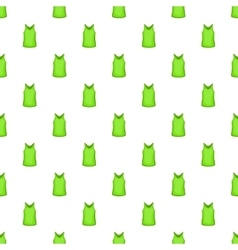 Green men t-shirt pattern cartoon style vector