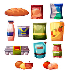 Grocery products supermarket vector