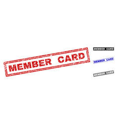 Grunge member card scratched rectangle watermarks vector