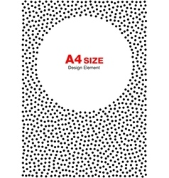 Halftone dots frame circle background a4 size vector