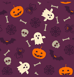 Halloween pattern seamless background vector