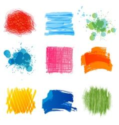 hand drawn strokes vector image vector image