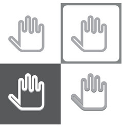 hand or palm icon vector image