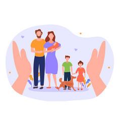 Happy family concept vector