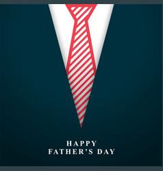 Happy fathers day wishes background with tie vector