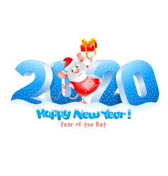 happy new year year rat vector image
