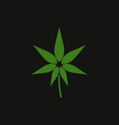hemp icon vector image