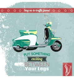 Hipster scooter poster vector