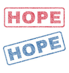 Hope textile stamps vector