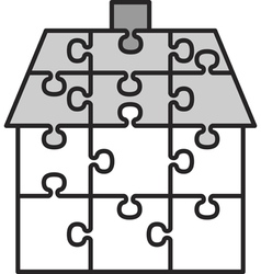 house from puzzles vector image