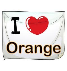I love orange vector image