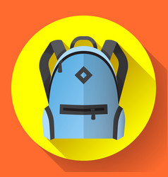 icon bright blue school or travel backpack vector image