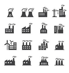Industrial building icon vector image