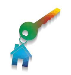 key with key chain as an house sign vector image