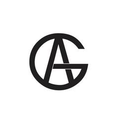 Letter ag circle linked logo vector