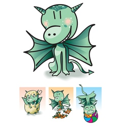 Little dragon vector
