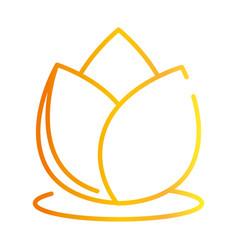 Lotus flower meditation decoration spiritual vector