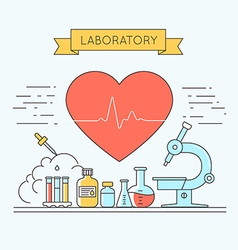Medical and lab equipments vector image