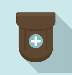 Medical pocket icon flat style vector