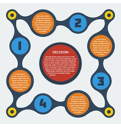 metaball flat infographic 10 vector image