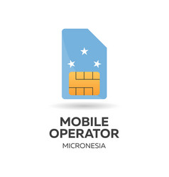 Micronesia mobile operator sim card with flag vector