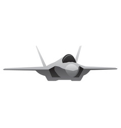 Modern military fighter jet aircraft vector