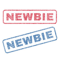 newbie textile stamps vector image